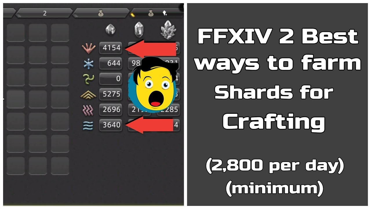 Ffxiv 2 Best Ways To Farm Shards For Crafting 2 800 Minimum Per Day
