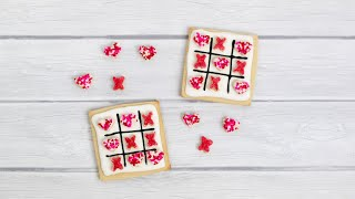 Make & Decorate Valentine Tic Tac Toe Sugar Cookies With Royal Icing - Valentine's Day