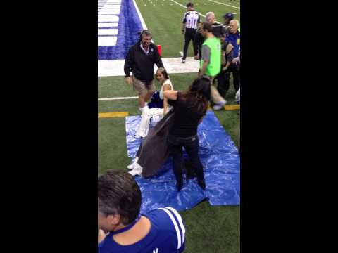 Two Colts Cheerleaders Shave Their Heads