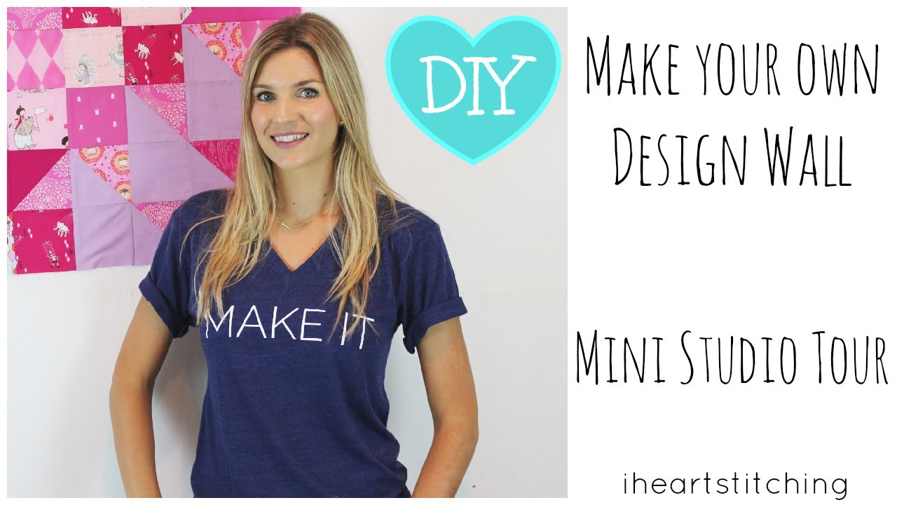 How to Make a Design Wall : Mini Studio Tour - YouTube