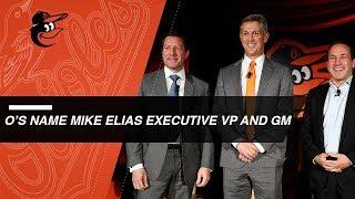 Orioles introduce Elias as new executive VP, GM