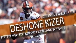 DeShone Kizer BROWNS DEBUT Highlights vs Steelers // 20/30 222 Yards, 2 TDs // 9.10.17