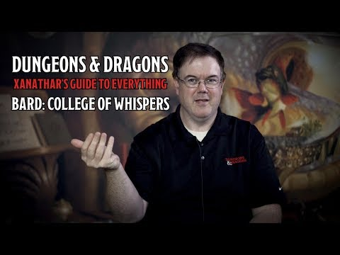 D&D's Xanathar's Guide To Everything Bard College of Whispers