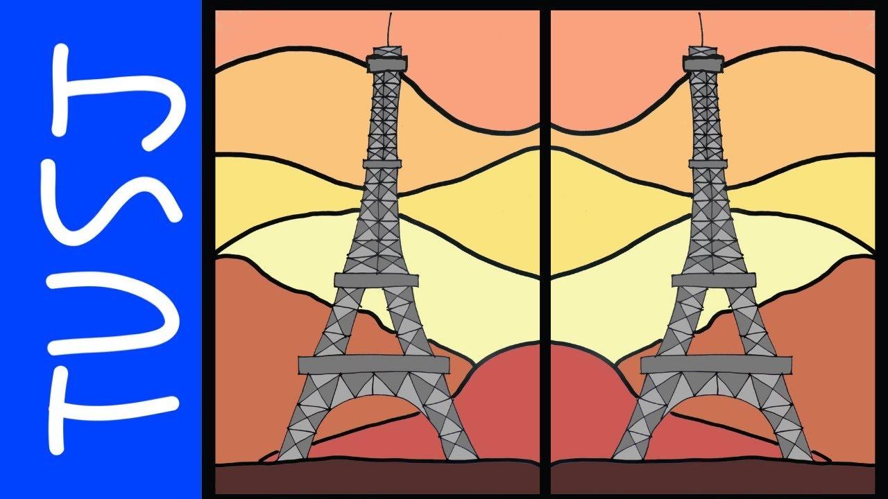 HVORDAN TEGNE EIFELLTÅRNET I PARIS