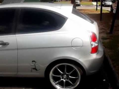 Hyundai Accent Hatchback >> custom 2009 hyundai accent hatchback - YouTube