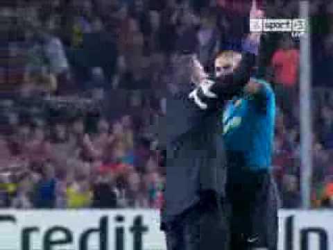 José Mourinho celebration vs barca