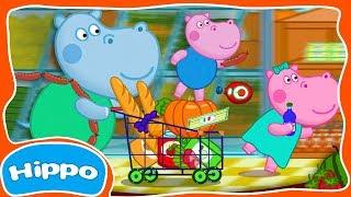 Гиппо 🌼 Сборник мультфильмов 🌼 Детские магазины и супермаркеты 🌼 Мультик и игра для детей