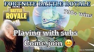 GETTING WINS w/Subs || FORTNITE BATTLE ROYALE 790+Wins|| GRINDING FOR 600 subs||