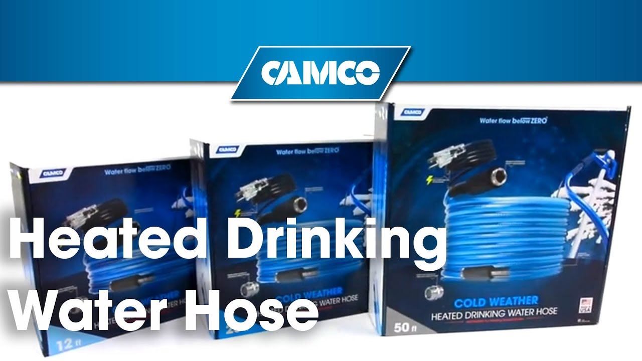 Heated Drinking Water Hose Youtube