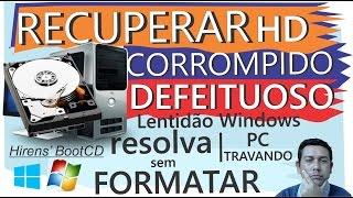 Gambar cover RECUPERAR HD Corrompido, DEFEITUOSO, PC travando, Lentidão Iniciar WINDOWS, Resolva sem formatar