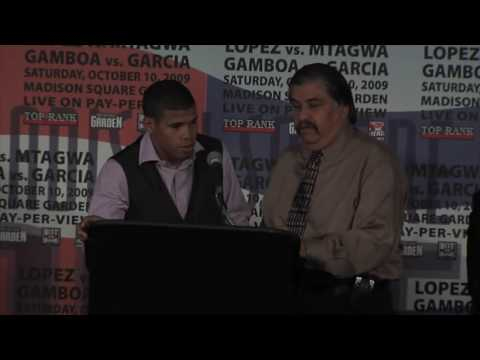Juan Manuel Lopez NYC Press Conference