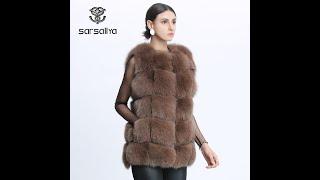 Женский жилет из лисьего меха зимний натурального однотонный жилет повседневная куртка размера