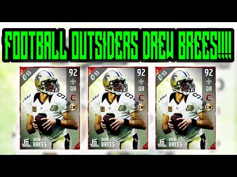 New Football Outsiders Drew Brees Looks Amazing!!!!