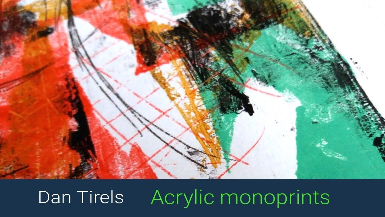 Monoprinting With Acrylic Paints Youtube
