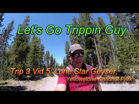 Lone Star Geyser, Yellowstone National Park (Trip 3 Vid 5) United States