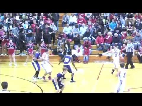 Angola Hornets at Fremont Eagles 2/02/13 Indiana Boys High S