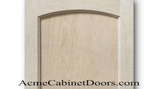 Unfinished Maple Juliano Arched Inset Panel Cabinet Door
