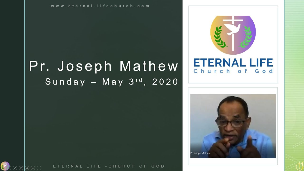 MESSAGE BY PR.JOSEPH MATHEW