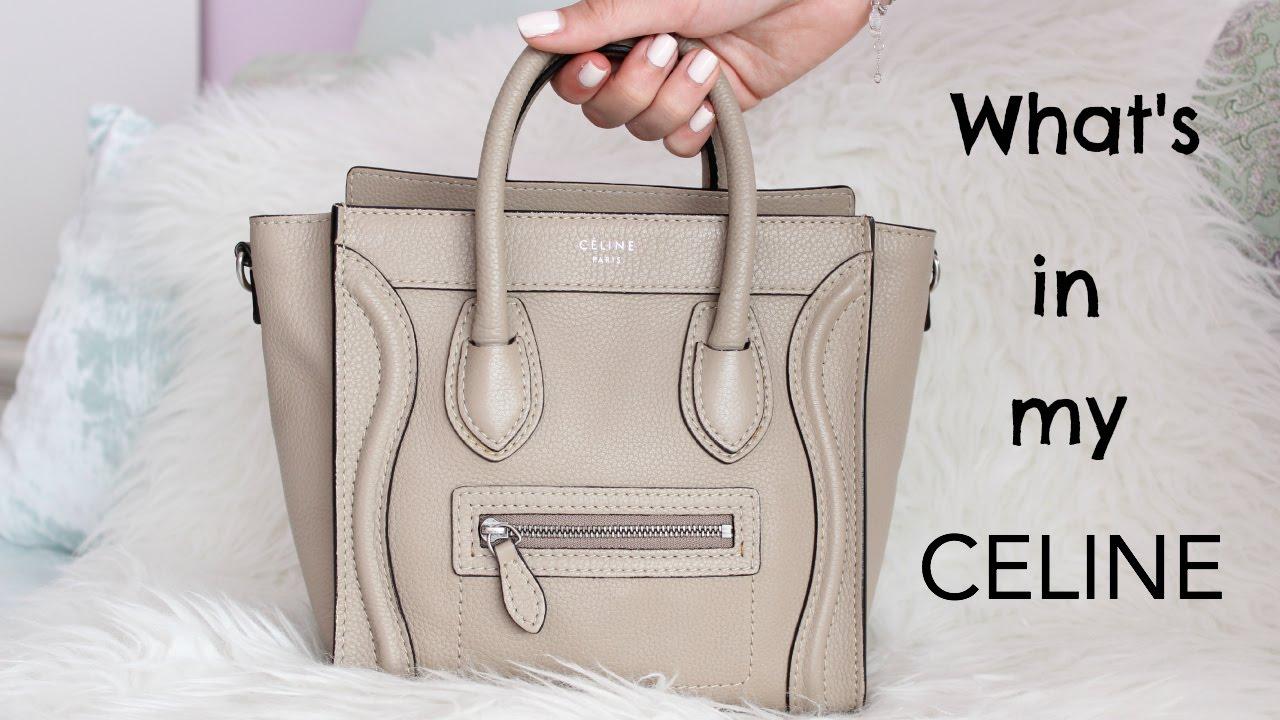 What s in my bag Céline nano  6c9104653f3d7