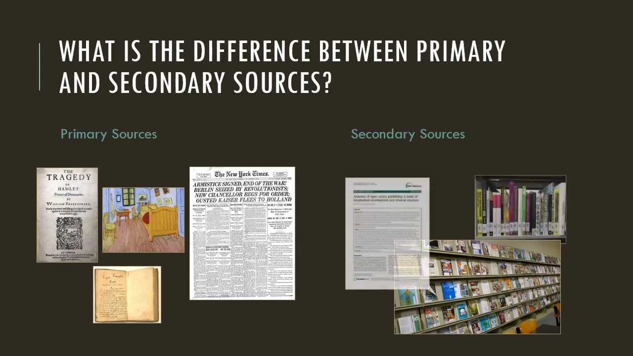The Difference Between Primary and Secondary Sources