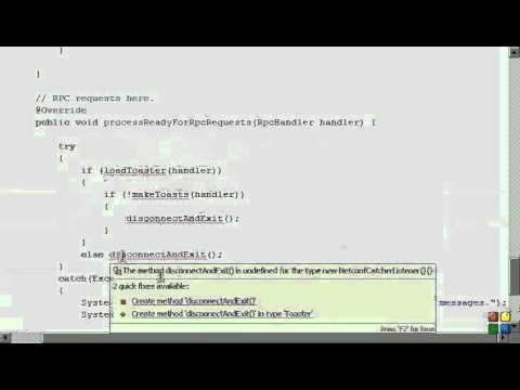 Netconf4Android Quickstart Step 6 Video 1