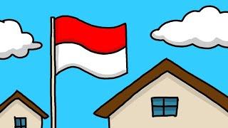 Menggambar Bendera Merah Putih Youtube