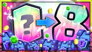 8 LEGENDARY CARDS!? • Clash Royale SUPER MAGICAL CHEST opening!