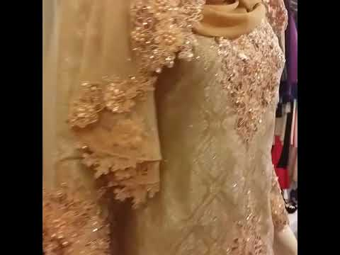 Baju Kahwin Lace Warna Gold Champane Youtube