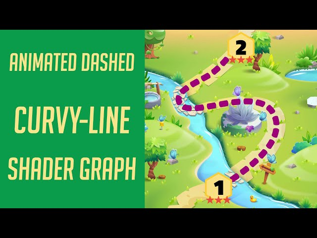 Animated Dashed Curvy-Line Shader Graph for Level Map - Easy Unity Tutorial
