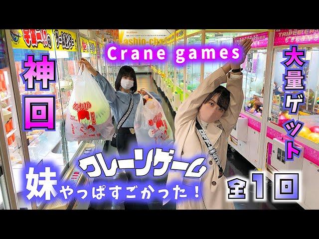 クレーンゲーム大量ゲットでビビる姉【神回】全1回(ほのぼの編)【のえのん】