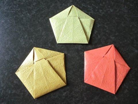 クリスマス 折り紙 折り紙 袋 折り方 : youtube.com