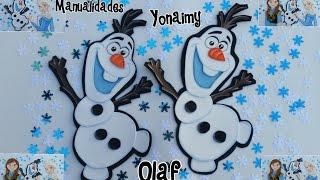 OLAF  DE FROZEN  HECHO CON FOAMY O GOMA EVA