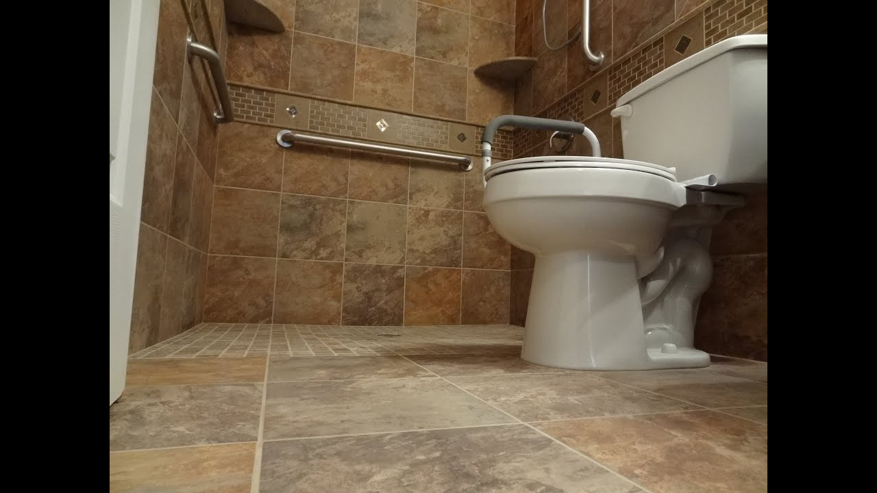 How To Build A Walk In Tile Shower.Part 1 How To Build And Tile Curbless Handycap Walk In Shower