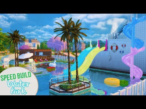 WATER PARK   THE SIMS 4 SPEED BUILD