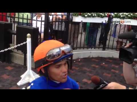 Micromanage wins the marathon Birdstone Stakes at Saratoga. Castellano, Pletcher talk about the win.