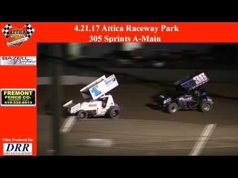 4.21.17 Attica Raceway Park 305 Sprints A-Main