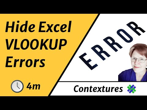 Hide Excel VLOOKUP errors with IF and ISNA functions