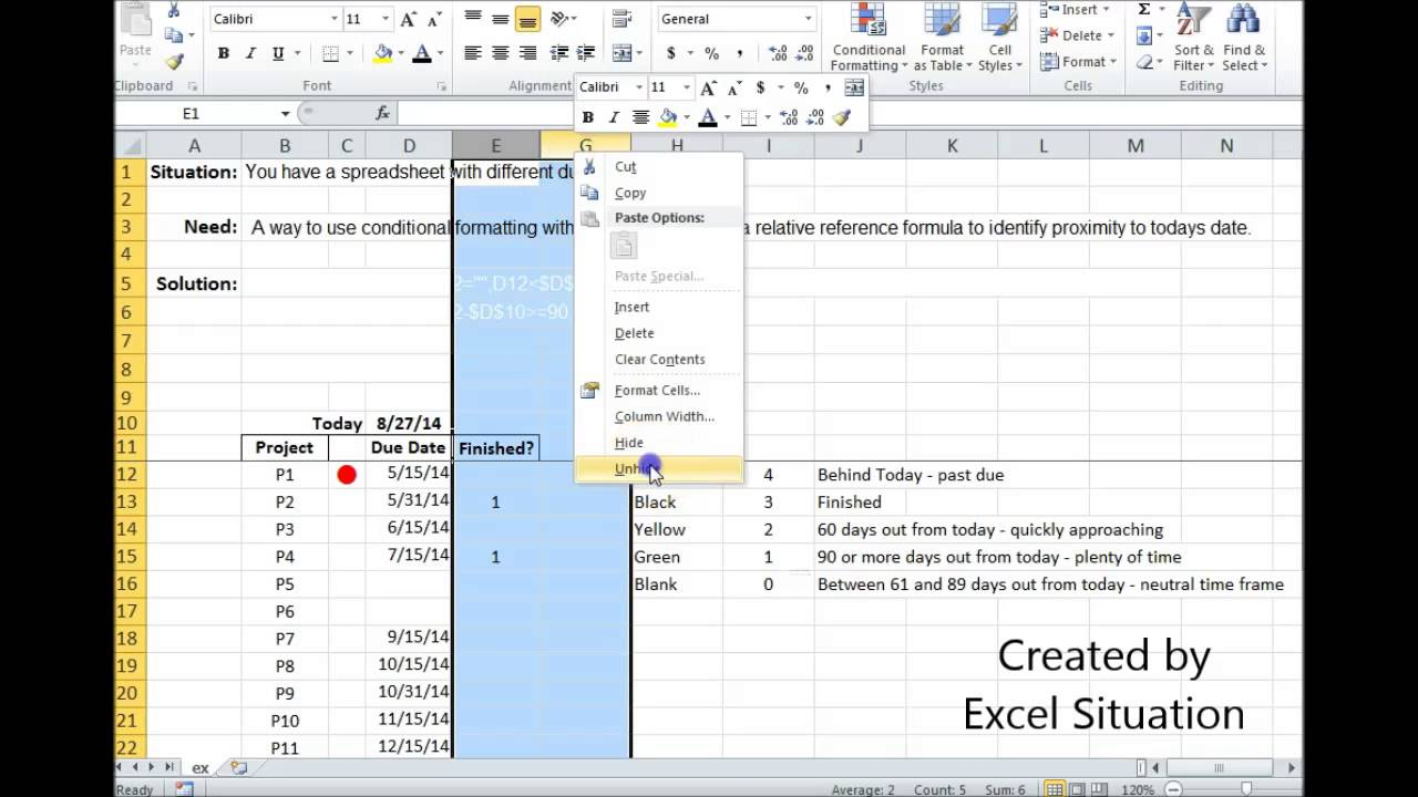 Excel Conditional Formatting Icon Sets With A Relative