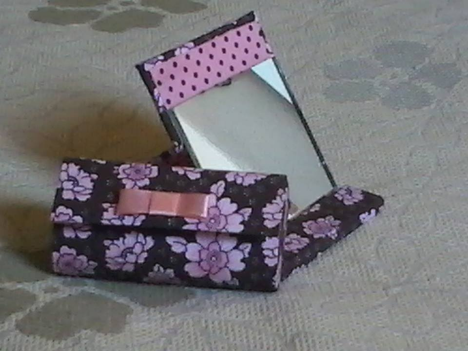 Bolsa Feita Em Cartonagem : Espelho de bolsa cartonagem