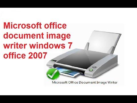 Microsoft office document image writer sur Windows 7 office 2007