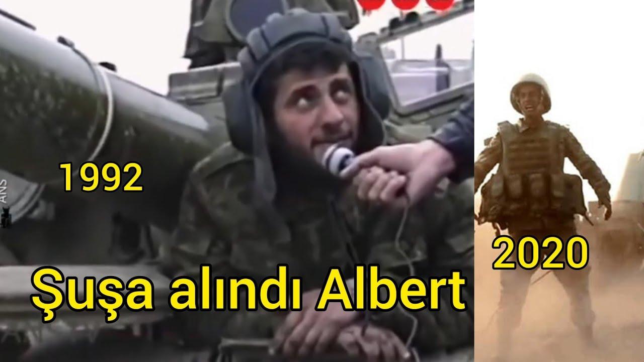 Şuşa azad edildi.Ruhunuz şad olsun Albert Aqarunov və bütün şəhidlərimiz 2020