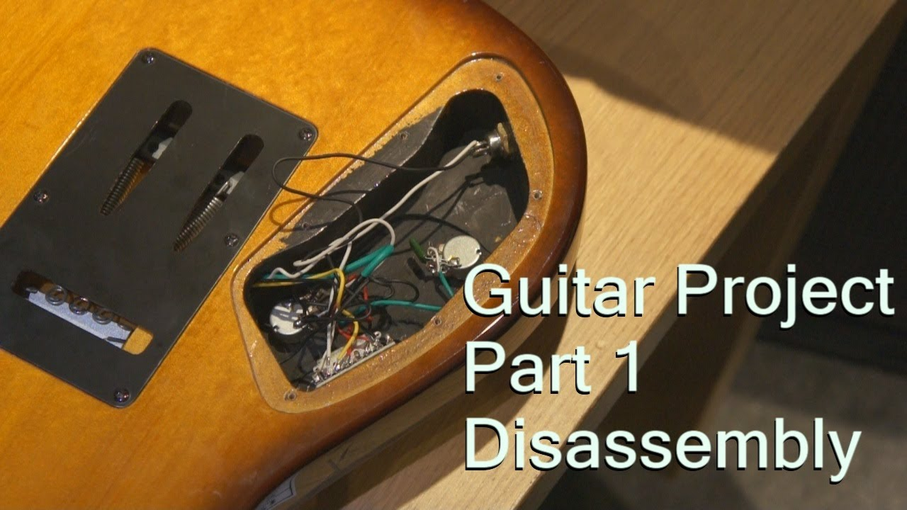 guitar project replacing passive to active emg pickups disassembly [ 1280 x 720 Pixel ]