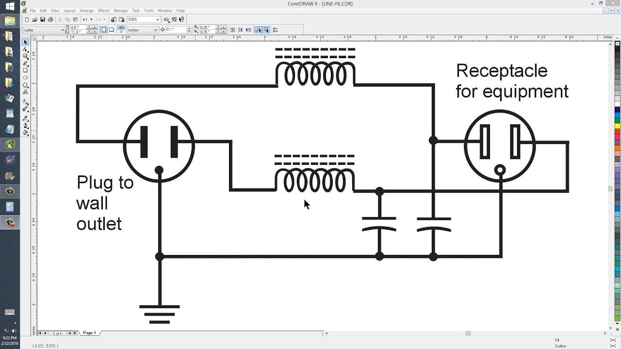 medium resolution of a lowpass ac line filter