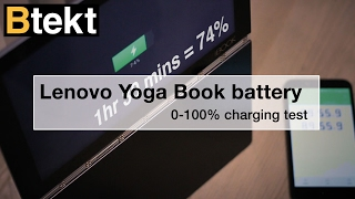 Lenovo YOGA Book battery charging speed test 0-100%