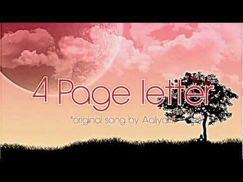 Aaliyah - 4 Page Letter (cover + lyrics!!!)