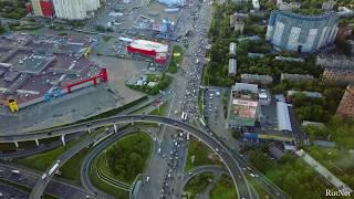 Пересечение МКАД и Ленинградского шоссе. Вечная пробка Химок