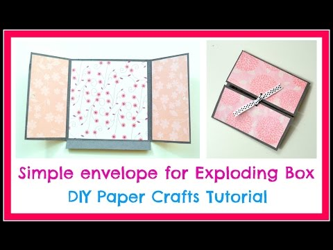 DIY Paper Crafts  - How to make a Simple Envelope for Exploding box -  Simple Scrapbook Tutorial