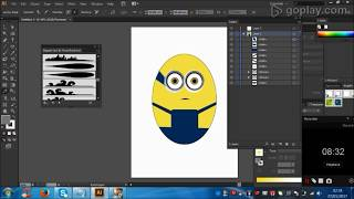 How to create 🎨🎨🎨Minion Character in Illustrator? step by step easy youtube tutorials.