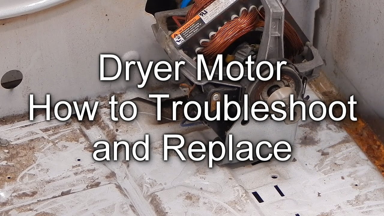 How To Troubleshoot And Replace Your Dryer Motor Youtube Maytag Performa Belt Diagram