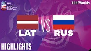 Latvia vs. Russia - Game Highlights - #IIHFWorlds 2019